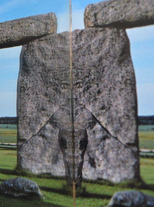 Stone Henge in reflection