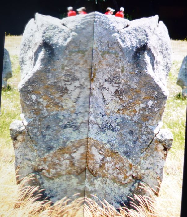 Stone of Carnac in reflection