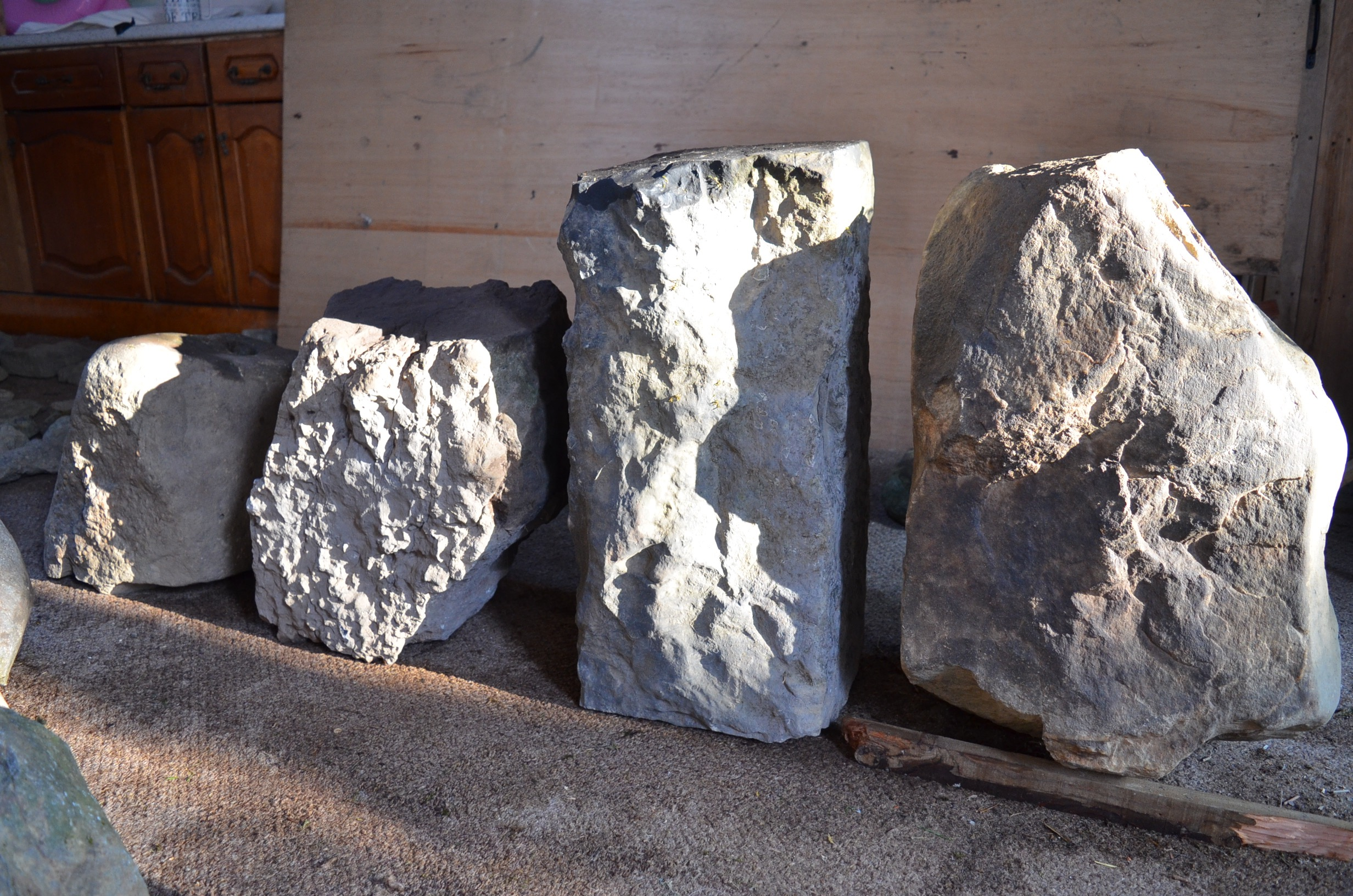 salvaged standing stones